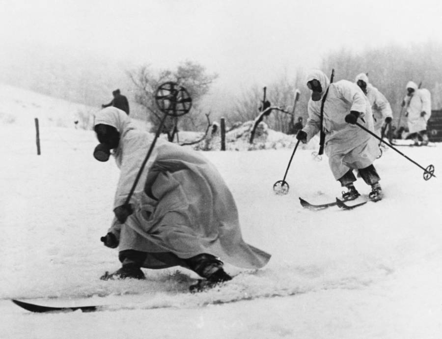 Ski soldiers during the Winter War