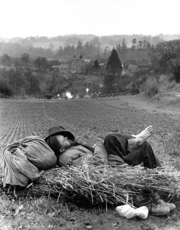 Sleeping Hay Hobo Culture