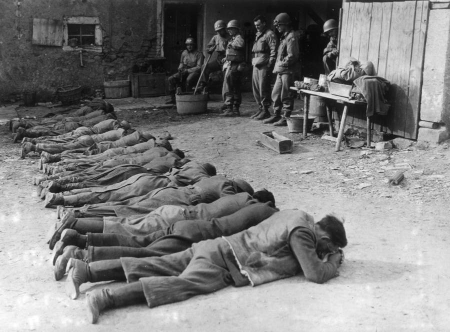 German snipers taken prisoner