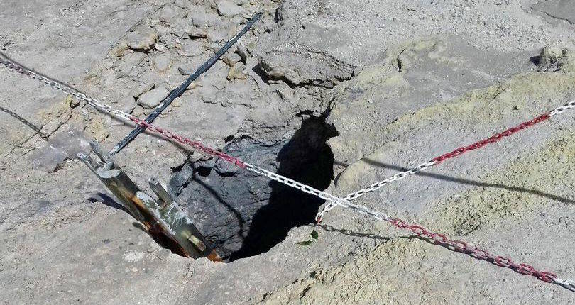 Solfatara Volcano Hole