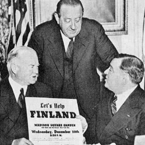 Herbert Hoover Hendrik Willem van Loon and Fiorello La Guardia.