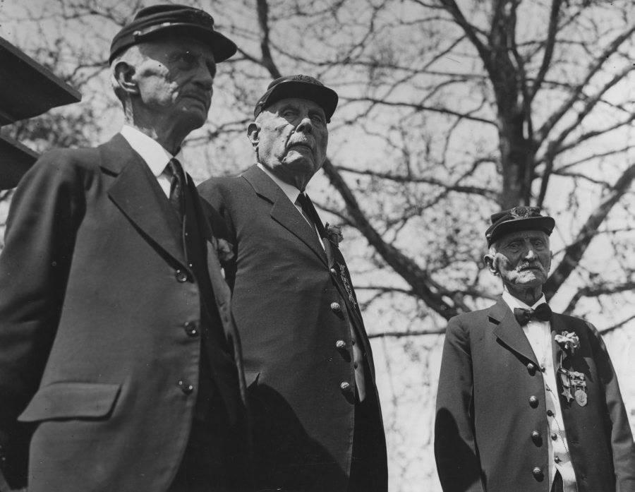 Three Veterans In Caps