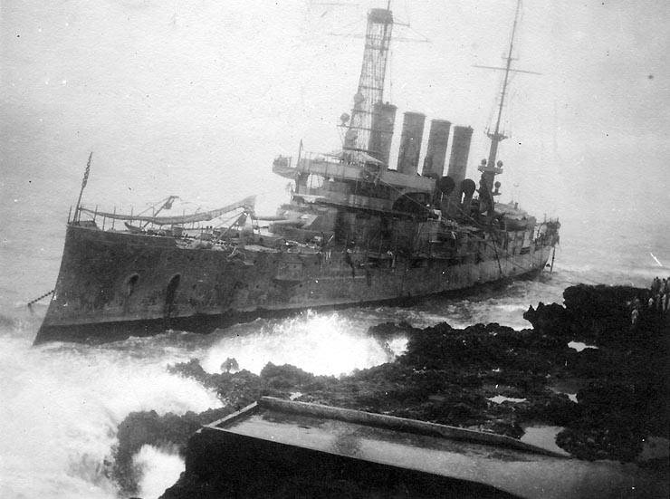 Uss Tennessee wrecked during the Banana Wars