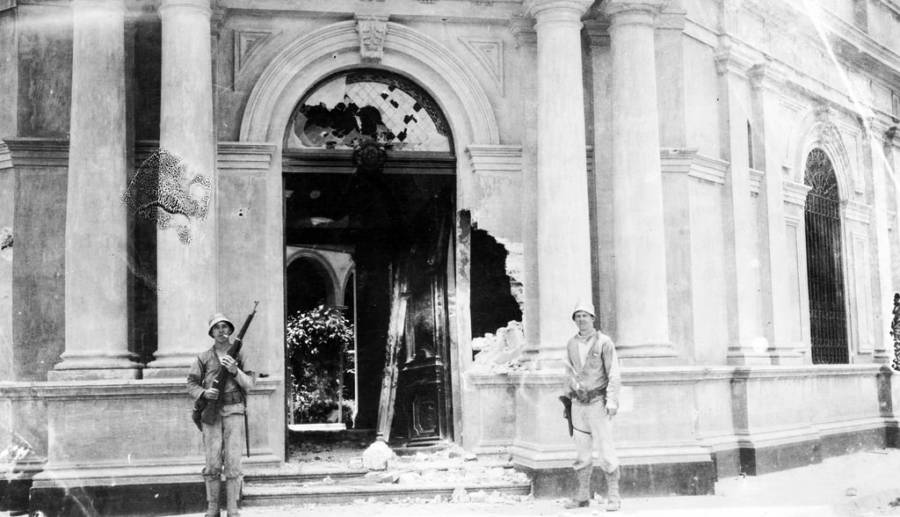 Destroyed Veracruz Academy