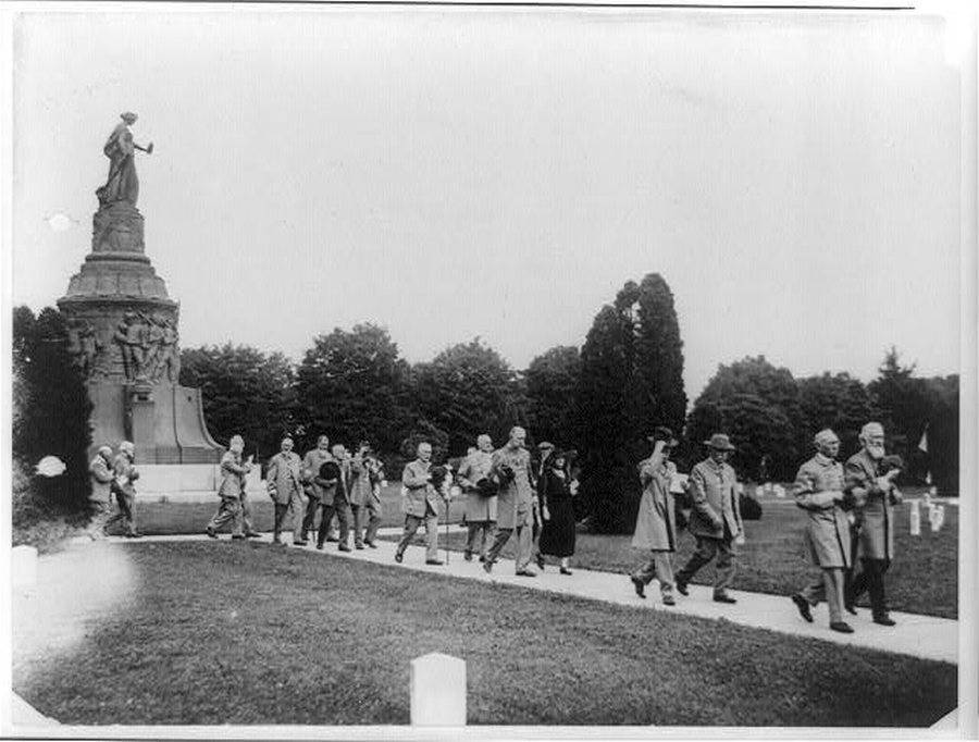 Veterans Leaving Monument