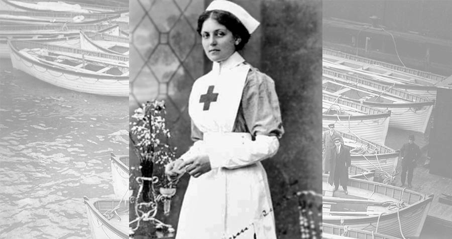 Violet Jessop in a British Red Cross nurse's outfit