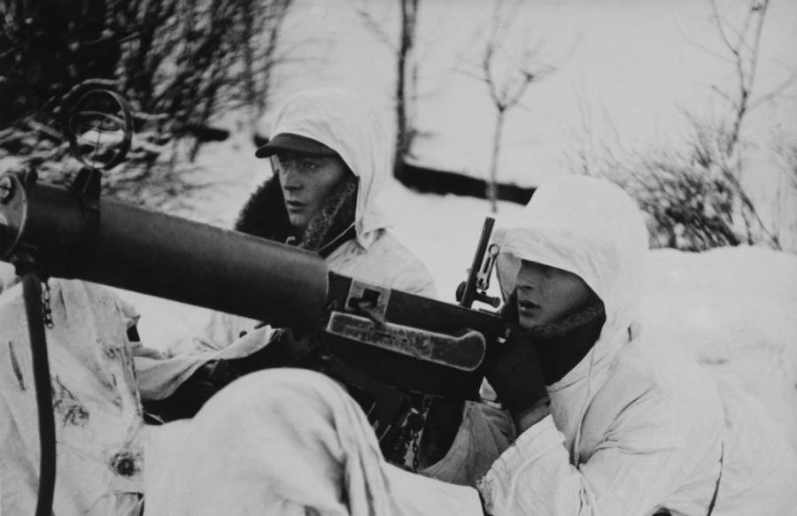 Anti aircraft gun in the Winter War.