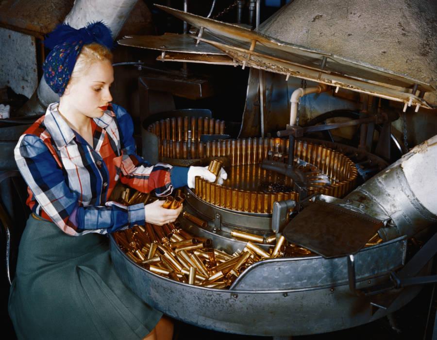 Woman Worker Bullets