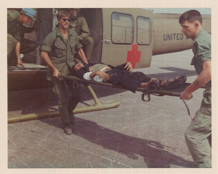 Wounded Vc Boards Helicopter