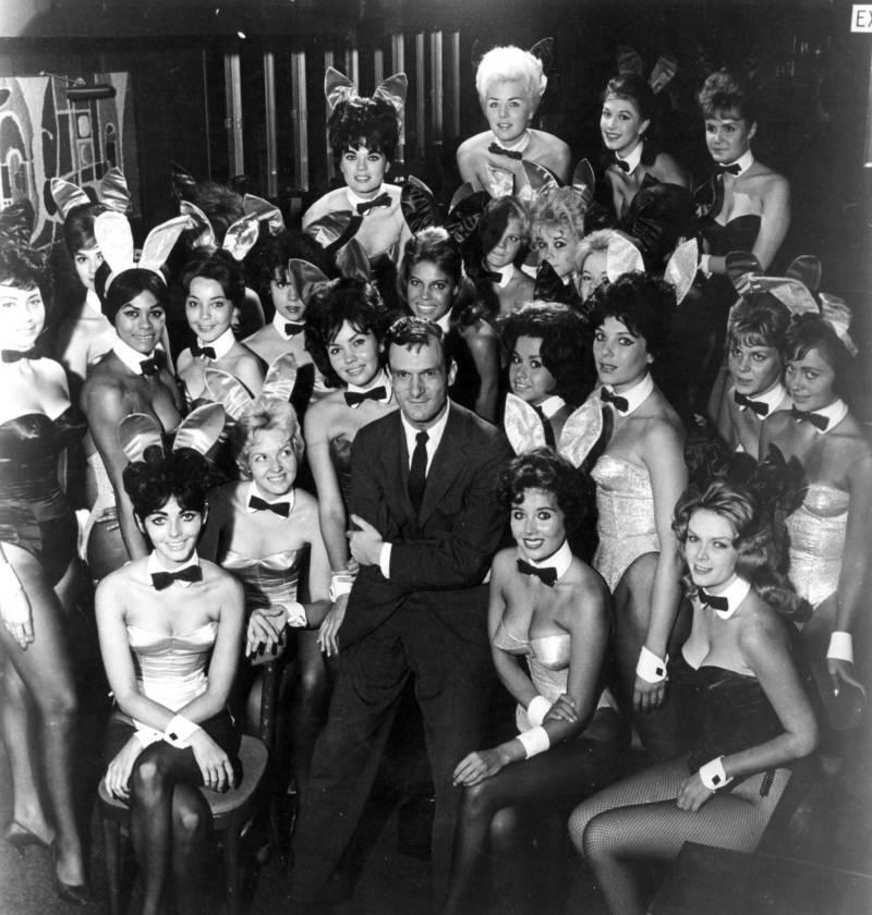 Youg Hugh Hefner Surrounded