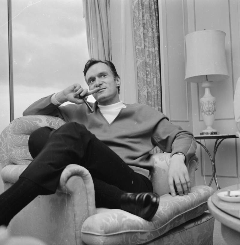 Young Hugh Hefner In A Chair