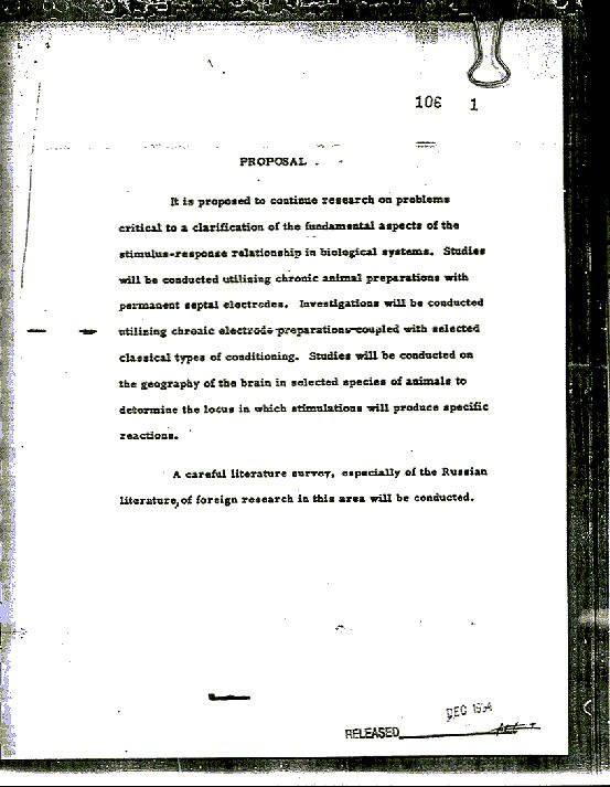 Document From MKUltra Mind-Control Experiments