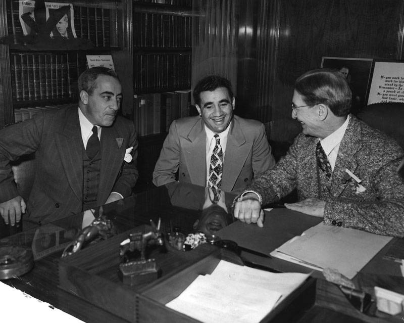 Abe Reles With Attorneys