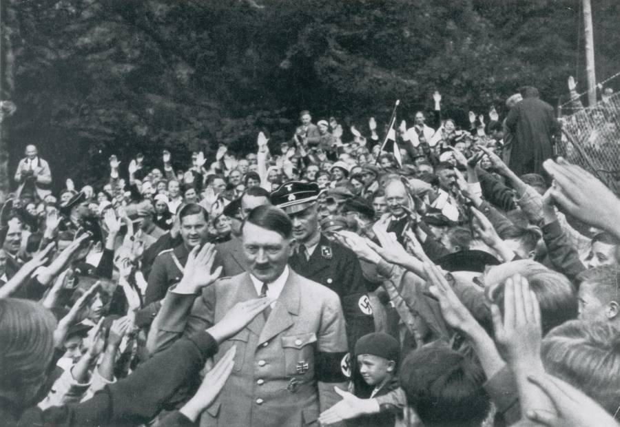 Adolf Hitler Salutes Children