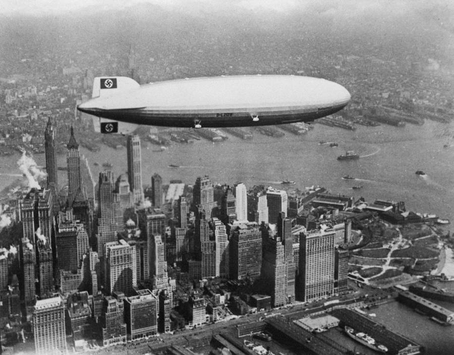 Airship Over Skyline