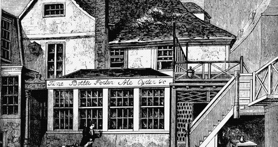 Drawing of Toten Hall House london beer flood
