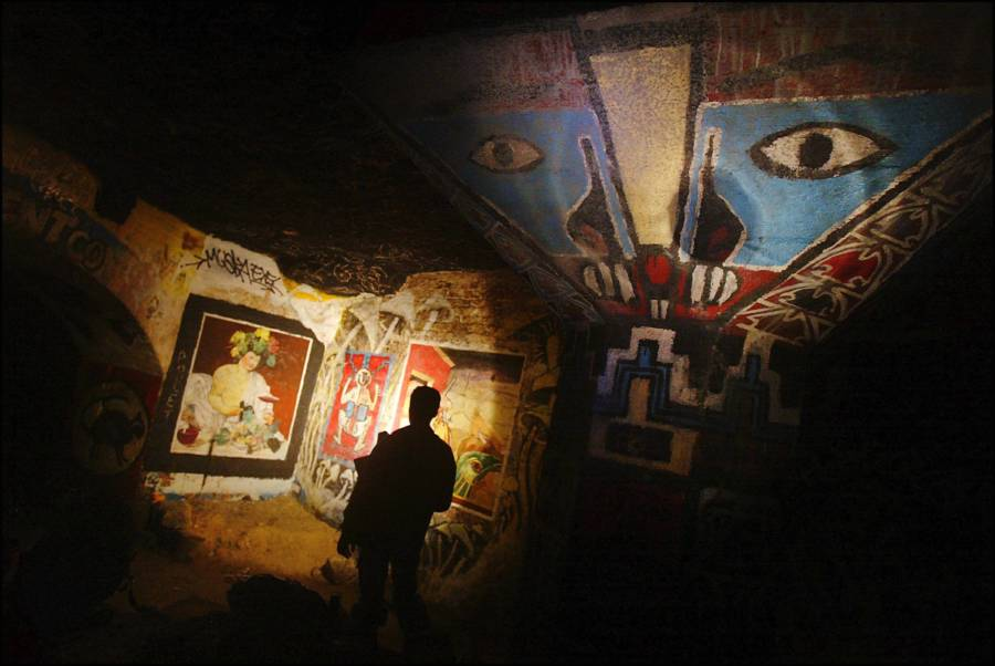 Artist in the Paris Catacombs