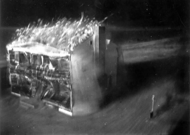 Atomic Test Burning House