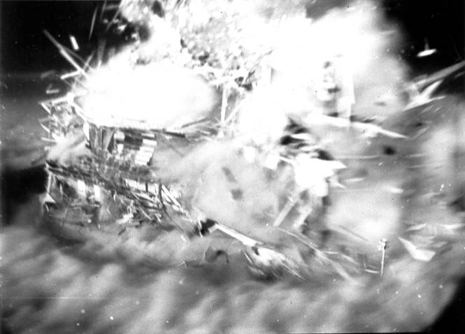 Atomic Test Exploding House