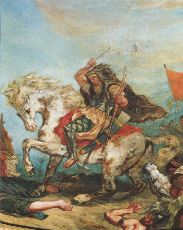 Strange deaths Attila the Hun painting