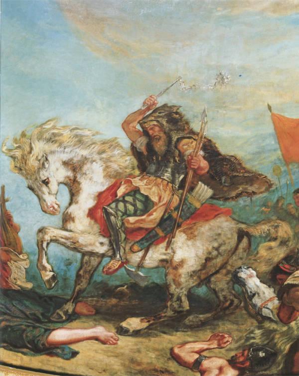 Strange deaths Attila the Hun painting