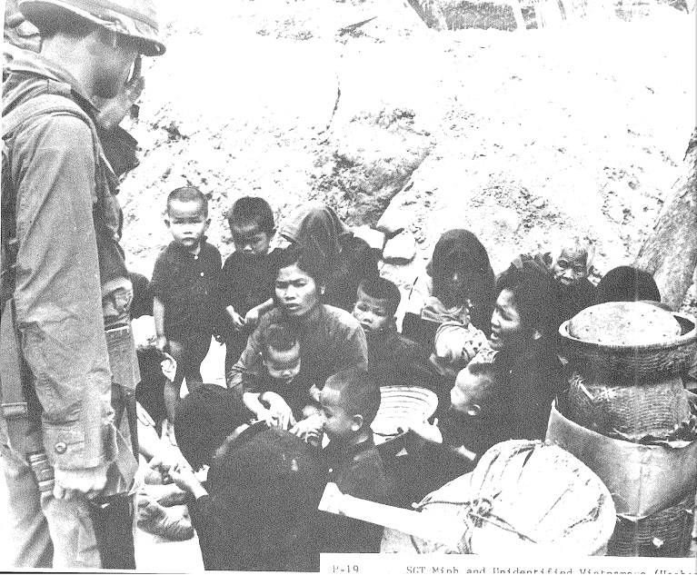Children Gather During Massacre