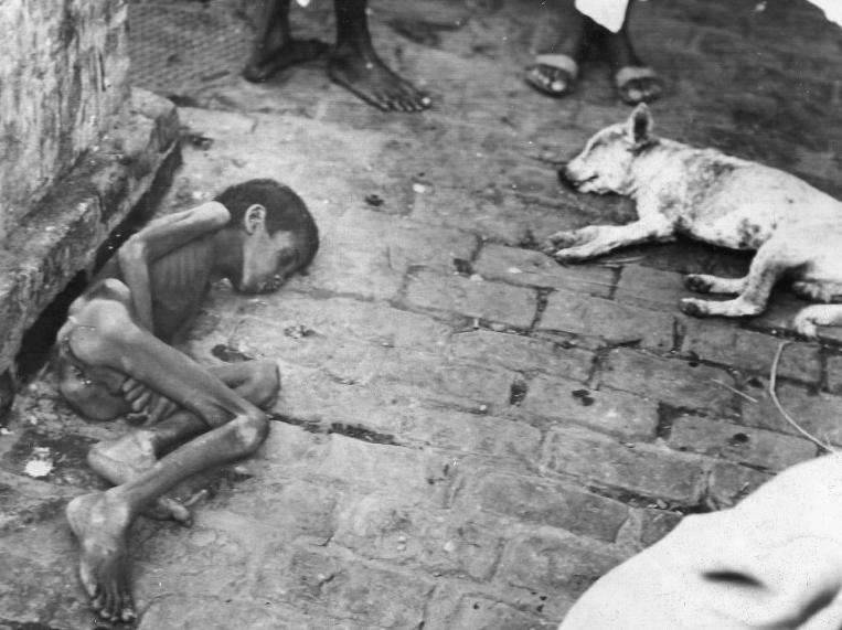 Bengal Famine Child Starving