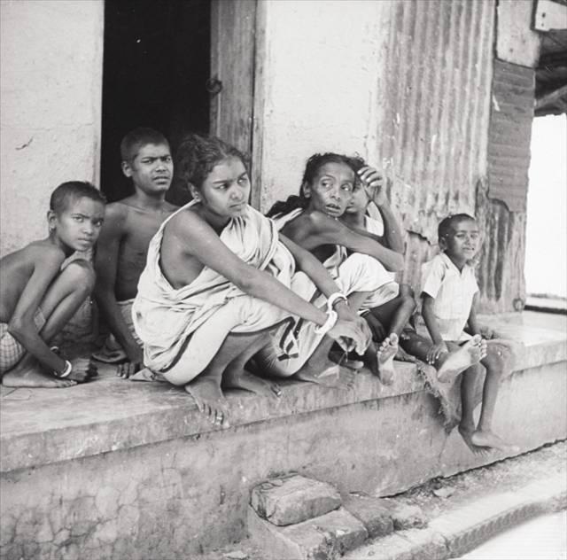 Bengal Famine Women Sitting