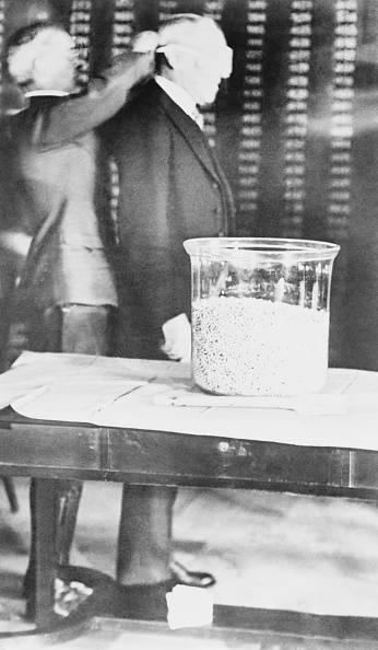 Blindfold Woodrow Wilson