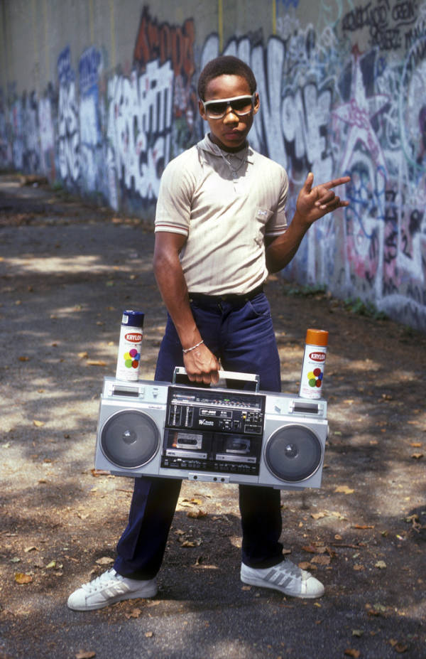 Boy Holding Stereo