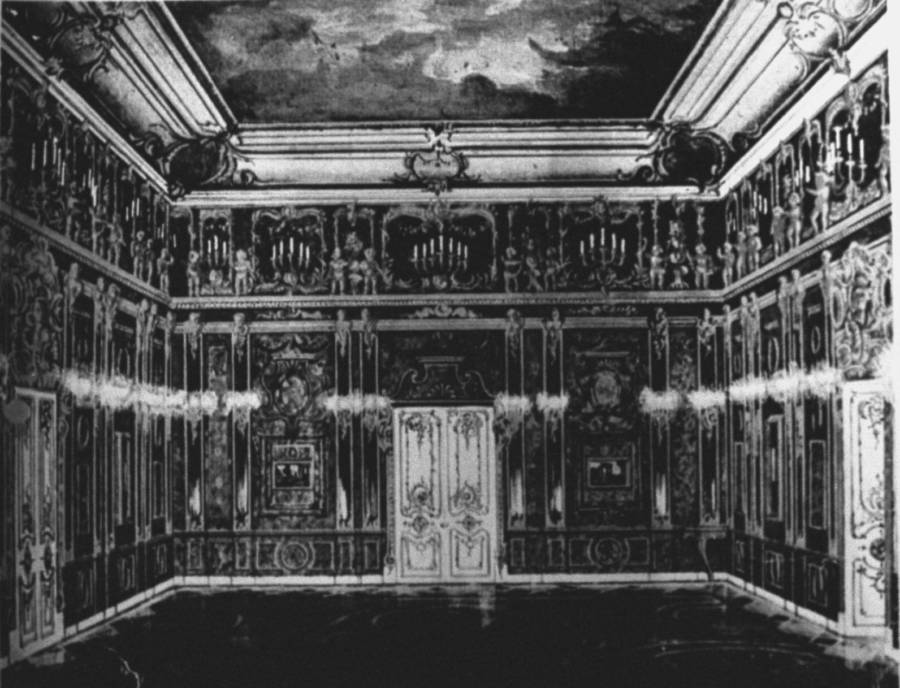 Amber Room Black And White Photograph