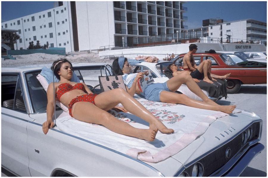 Sunbathing On Car