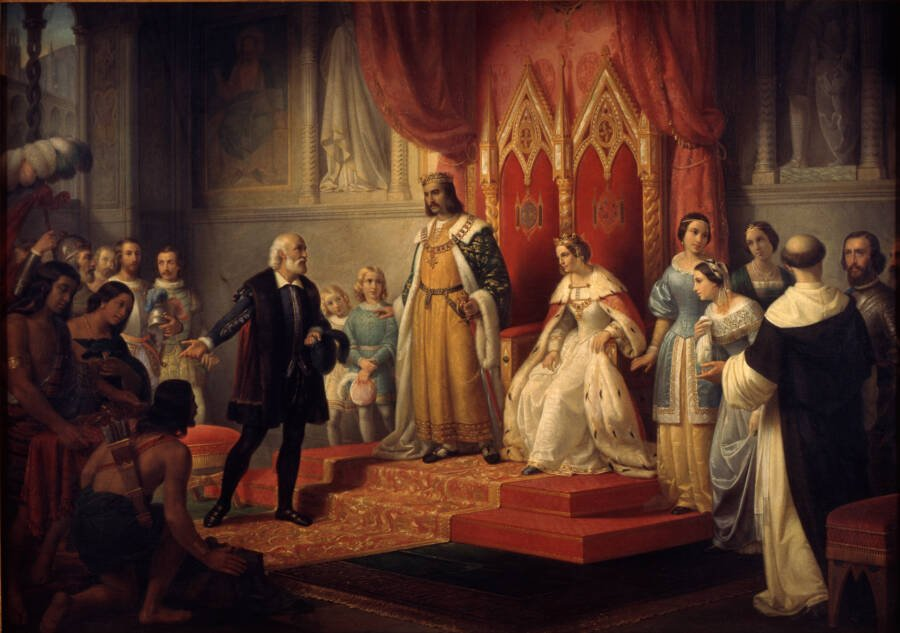 Columbus In The Spanish Court