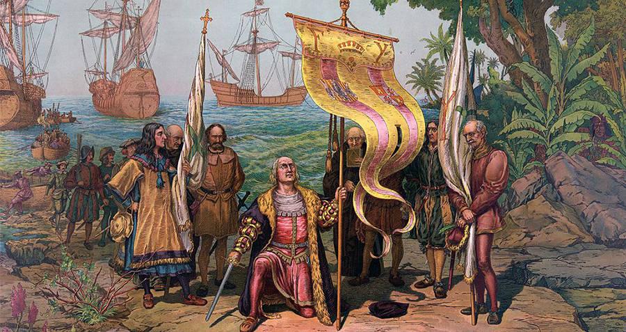 Columbus Declaring