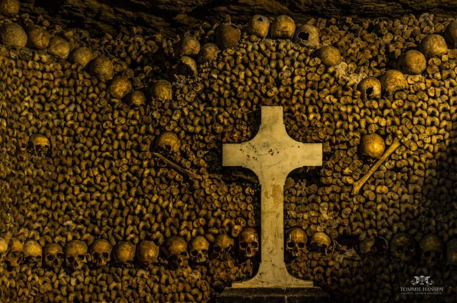 Cross in the French Catacombs