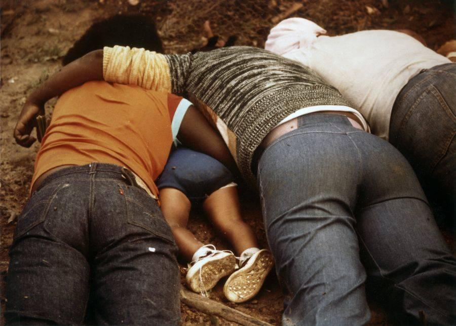 Jonestown Massacre dead holding each other