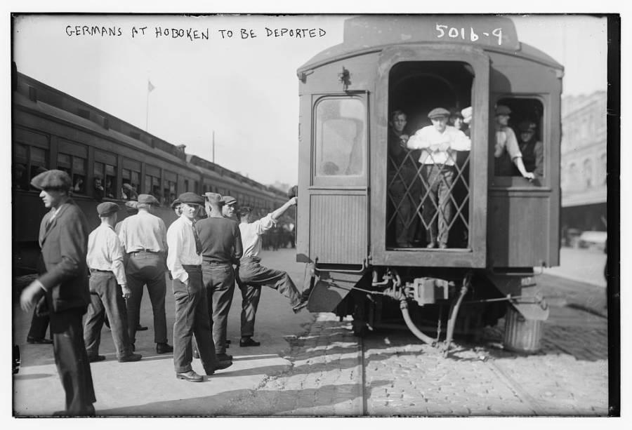 Deported Germans On Train