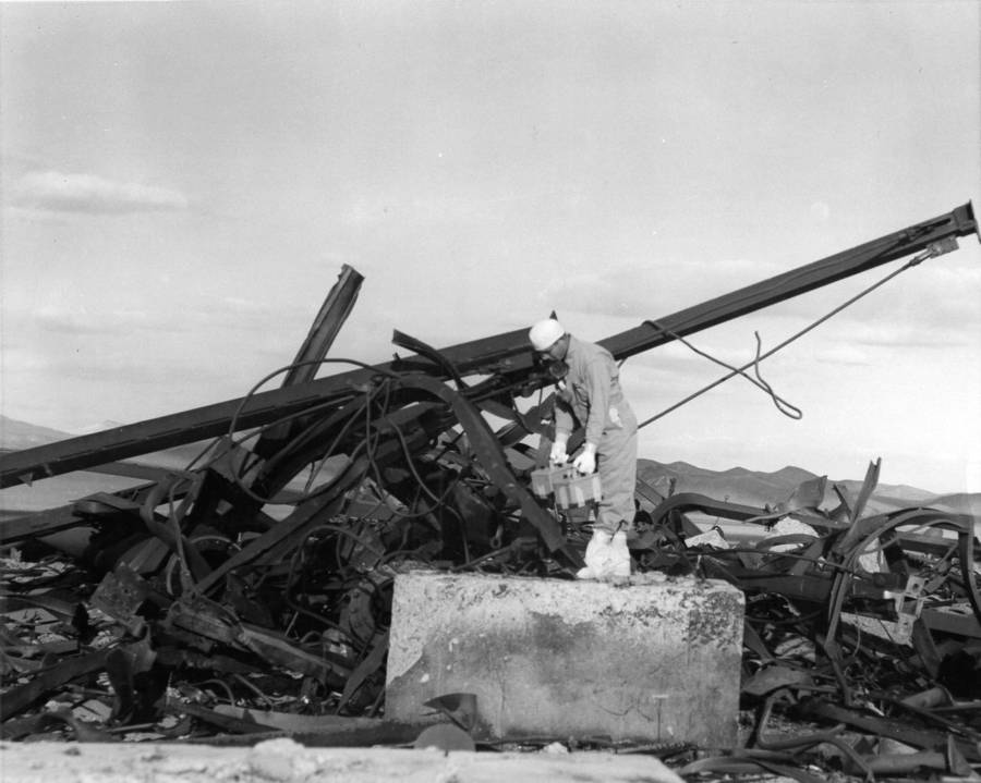 Destroyed Towr Nevada Site