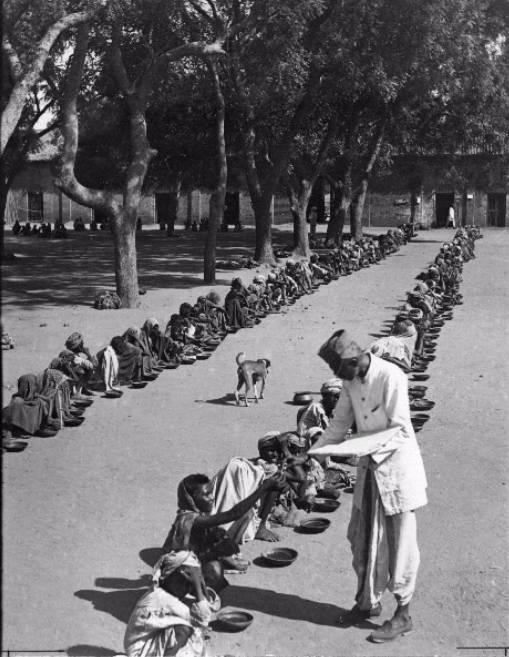 Feeding famine survivors in India