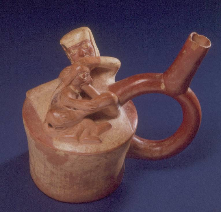 Ceramic depicting fellatio