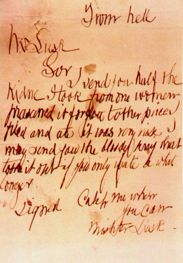 From Hell Letter