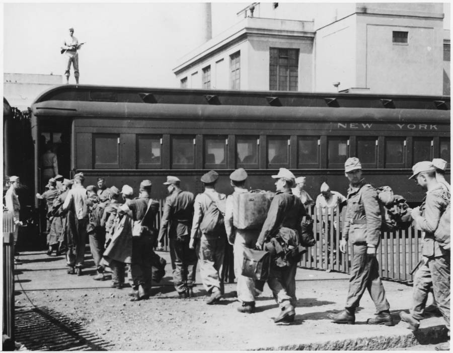 German Pows Train Boston