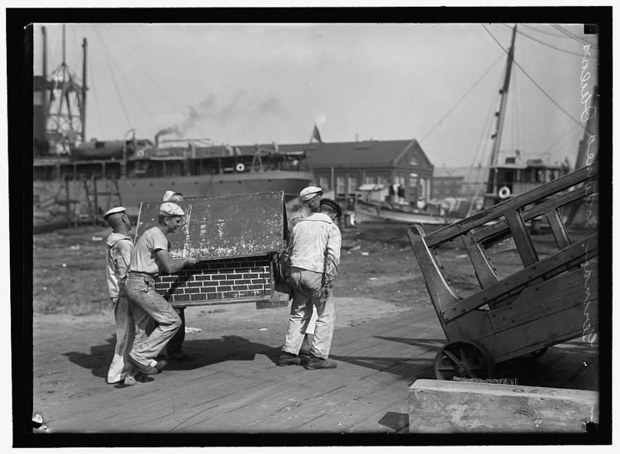 German Sailors Interned