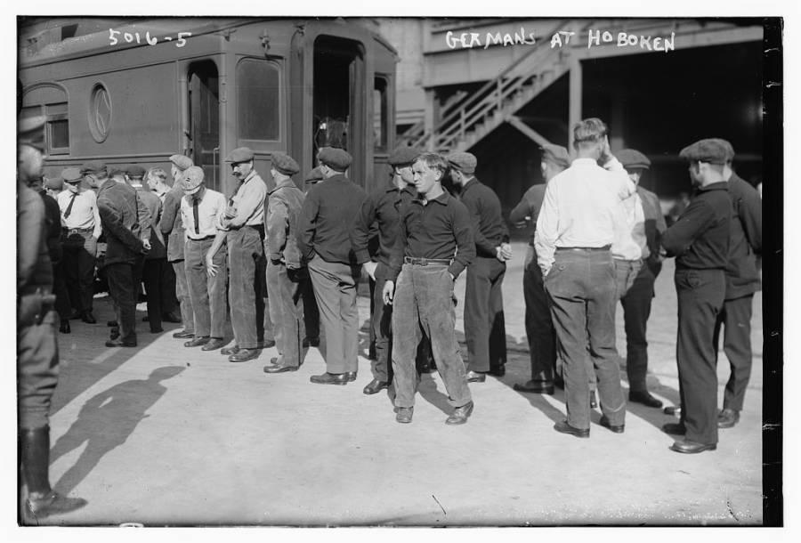 Germans At Hoboken