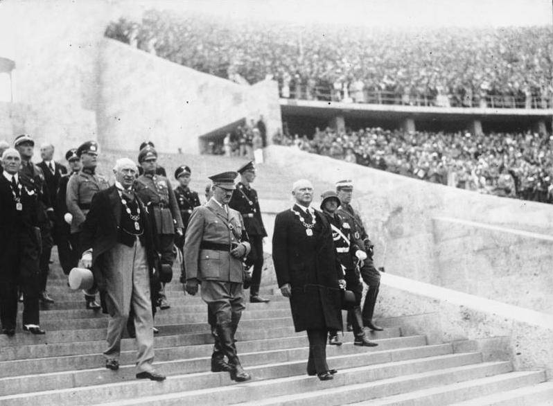 Aoolf Hitler At The 1936 Olympics