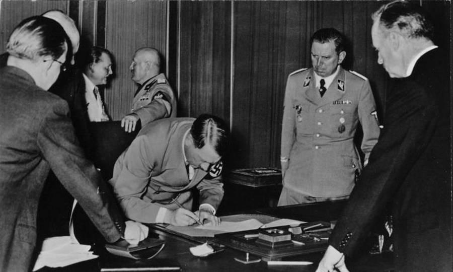 Hitler Signing Document