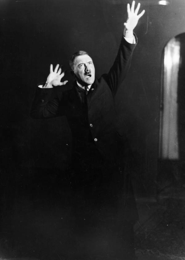 Hitler Speech Waving