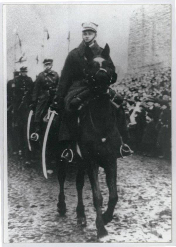 Witold Pilecki Riding A Horse