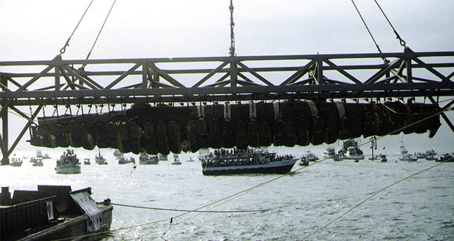 Hunley Recovery In Charleston Harbor