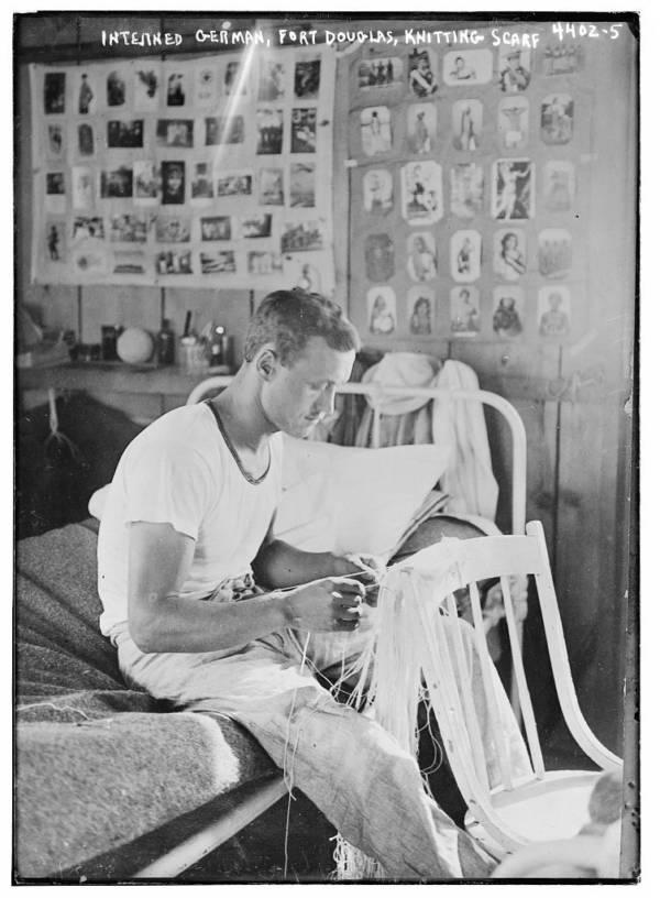 Interned German Knitting Scarf